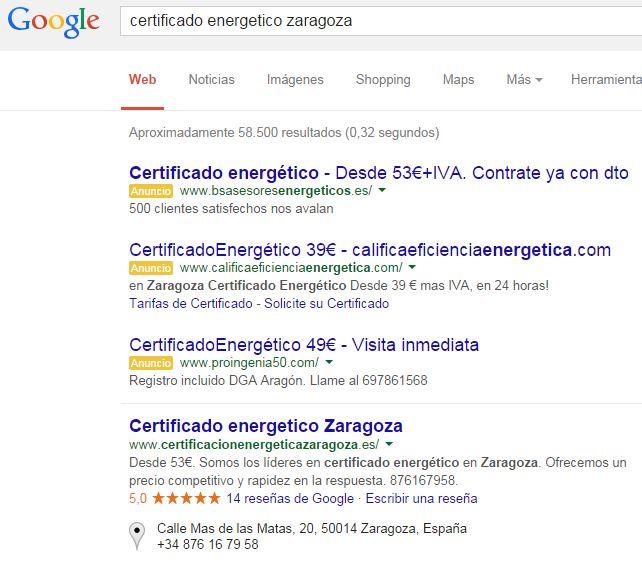 Posicionamiento en buscadores por carlos serrano universidad de zaragoza - Ejemplo certificado energetico piso ...